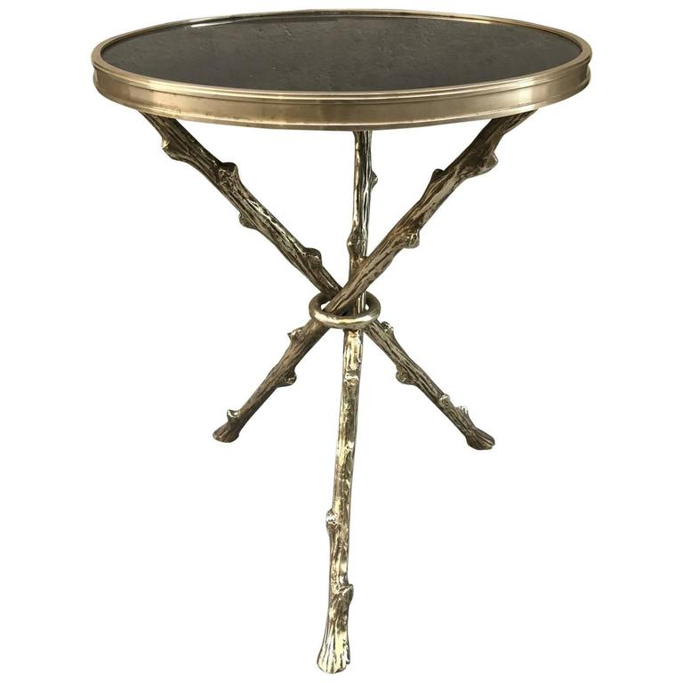 Maison Bagues Bronze and Granite Top Table