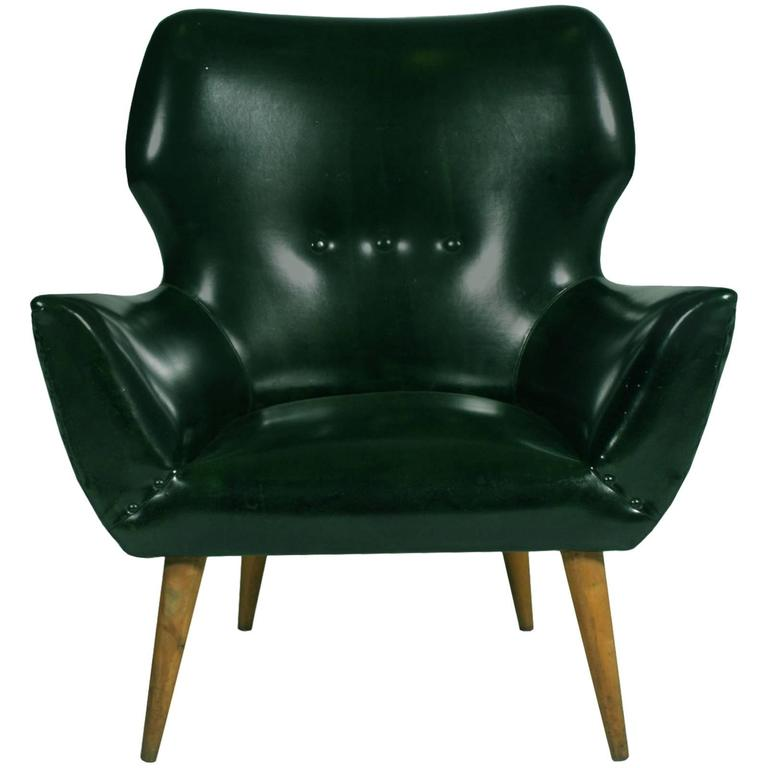Mid-Century Modern Lounge Club Chair Armchair Gio Ponti Style Synthetic Bottle