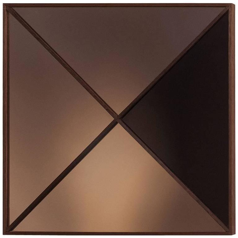 39 constructivist mirror series square 39 modern wall mirror for Square mirror