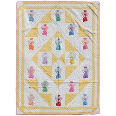 Folky Sun Bonnet Sue Applique Quilt