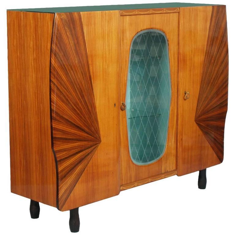 Retrò Italian Mid-Century Display Cabinet Sideboard 1960s Design De Baggis Cantù