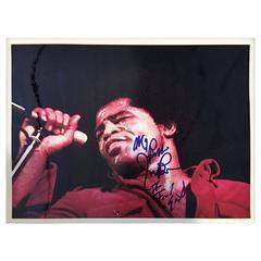 "James Brown Autographed ""I Feel Good"" Photo"