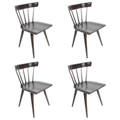 Set of Four Paul McCobb Spindle Back Dining Chairs for Planner Group