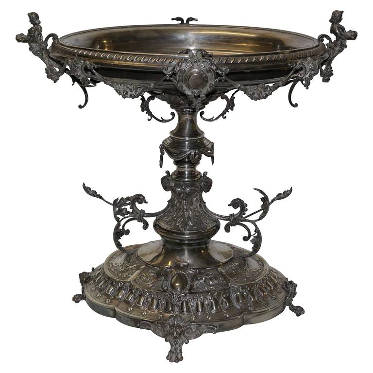19th Century English Silver Centrepiece For Sale