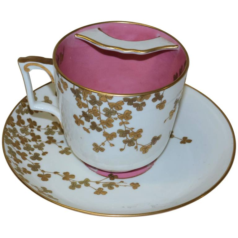 Vintage Tiffany & Company Mustache Cup and Saucer