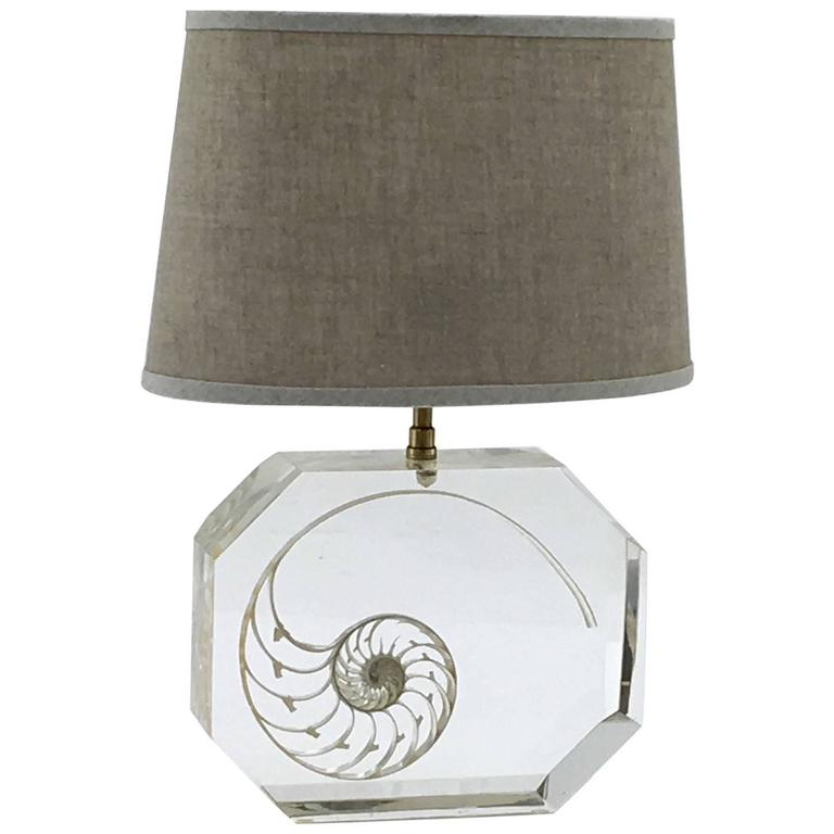 Resin and Shell Table Lamp in the Style of Pierre Giraudon