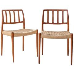 Niels O. Moller Classical Design a Set of Four Dining Chairs