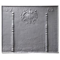 18th Century 'Pillars with Ihs Monogram' Fireback