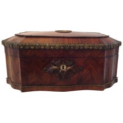 Splendid French Marquetry Jewelry Box