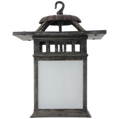 Fine Arts and Crafts Bronzed Lantern