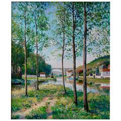 Yetvart Kaprielian Moret Sur Loing bord du Canal