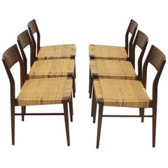 Six 1960s Model 351 Dining Chairs by Georg Leowald for Wilkhahn