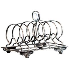 George IV Silver Toast Rack of Good Proportions