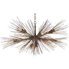 Feldman Urchin Sputnik Chandelier in the Brutalist Manner