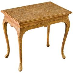 George I Gilt-Gesso Side Table