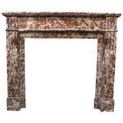 French Louis XVI Style Marble Mantel