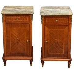 Continental Pair of Bedside Cabinets in Mahogany