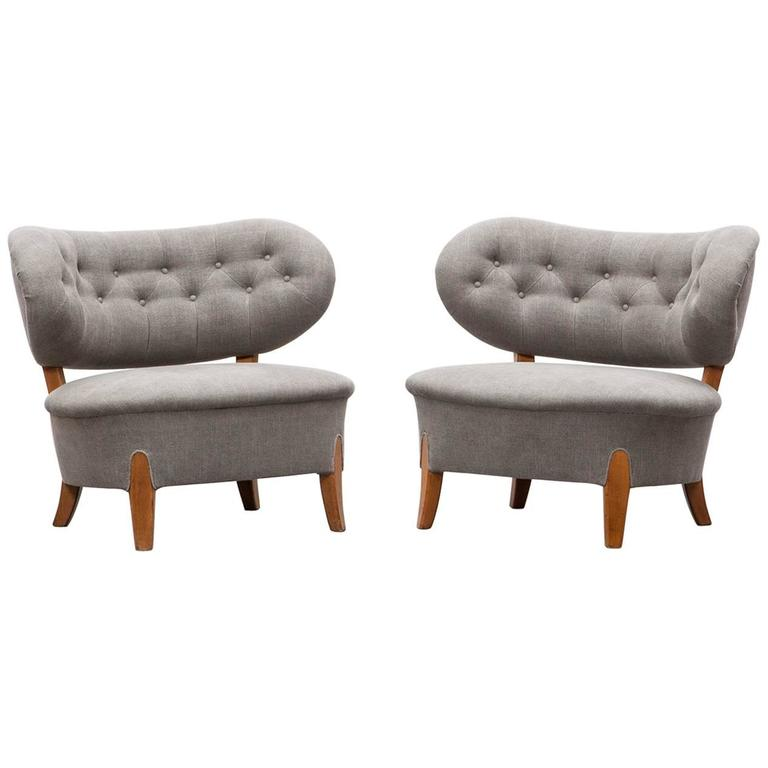 Pair of Otto Schulz Lounge Chairs * NEW UPHOLSTERY *