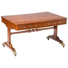 Regency Burr Elm Library Table
