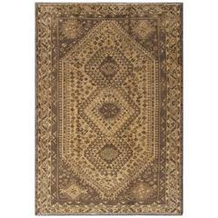 Vintage Persian Shiraz with Tribal Design and Neutral Colors