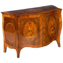 Exceptional George III Satinwood and Amaranth Marquetry Commode