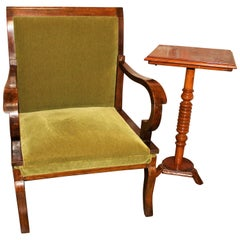 1930s Art Deco Daybed-Chair and the Side Art Deco Table