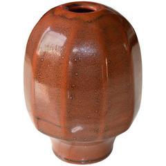 Sandstone Ceramic Enamel Vase by Daniel de Montmollin, France