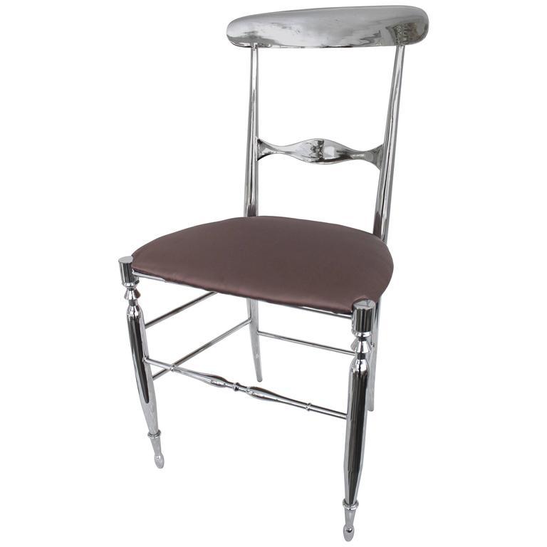Italian Nickeled Chiavari Chair