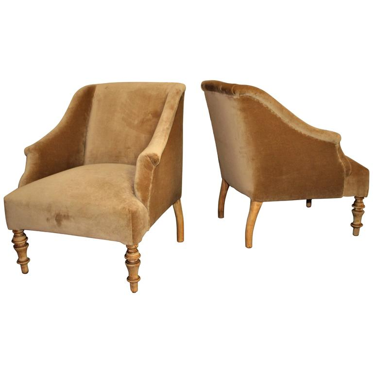 Biedermeier Attributed Pair of Chairs For Sale