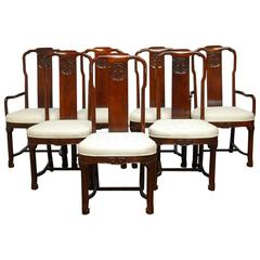Chinese Yoke Back Officials Hat Chairs Set Of Six For Sale