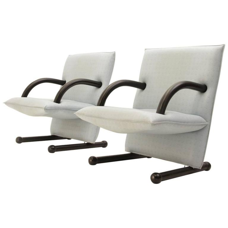 Set of Two Arflex T-Line Chairs, Burchard Vogtherr, 1980s