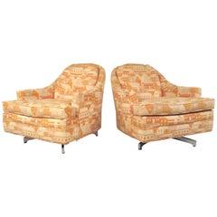 Milo Baughman Swivel Lounge Chairs for Thayer Coggin