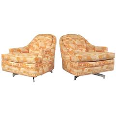 Milo Baughman Swivel Lounge Chairs for Thayer Coggin