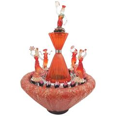 "Venetian Murano Italy Art Glass Water Fountain ""El Baile Flamenco"" Sculpture"