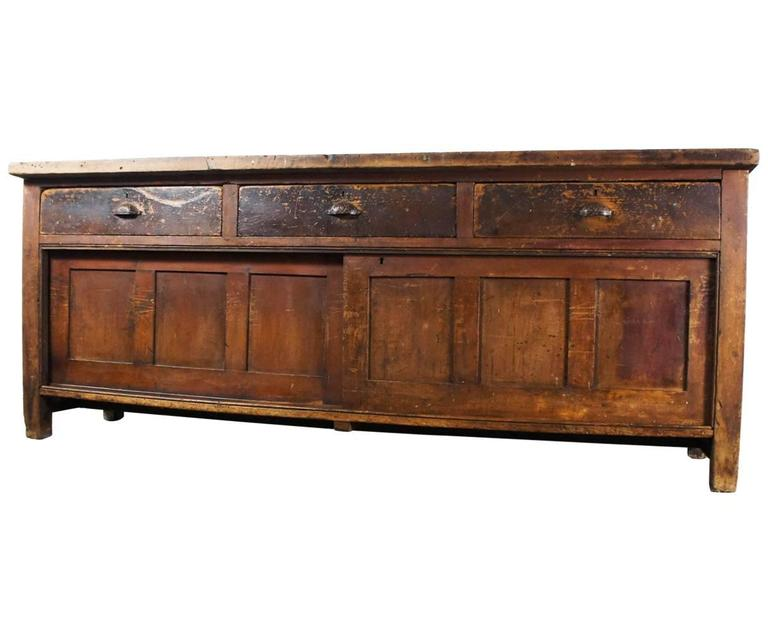 Victorian shop pine counter kitchen island at 1stdibs for Vintage kitchen island for sale