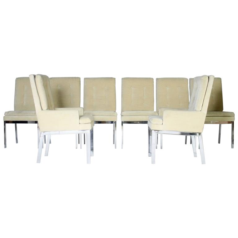 Milo Baughman DIA Dining Chairs Set of Eight For Sale