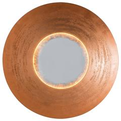 Otis and Otis, Copper Concentric Mirrored Sconce, USA, 2017