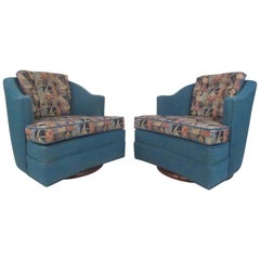 Pair of Mid-Century Modern Swivel Chairs