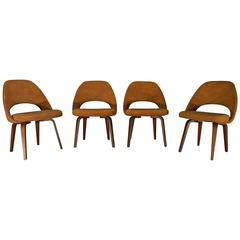 Four Eero Saarinen for Knoll Bentwood Side Chairs