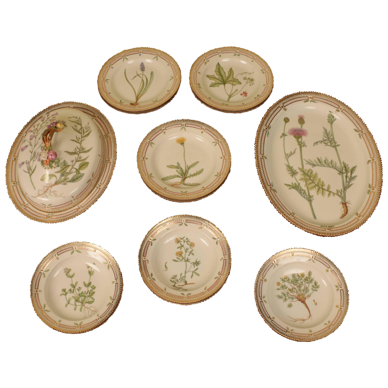 Part Service of Flora Danica Porcelain