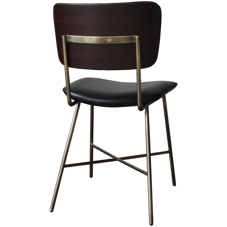 Cojo Dining Chair in Brass by Thomas Hayes Studio 1