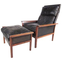 Model 924 Lounge Chair with Ottoman designed by Knut Sæter for Vatne Mobler