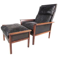 Otto Hans Olsen Lounge Chair with Ottoman for Vatne Mobler