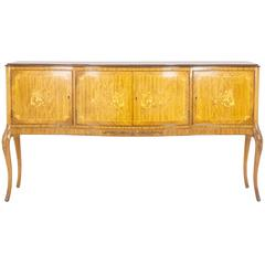 Scottish Satinwood Inlaid Marquetry Sideboard, Console, Credenza