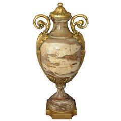 Continental Ormolu-Mounted Marble Urn