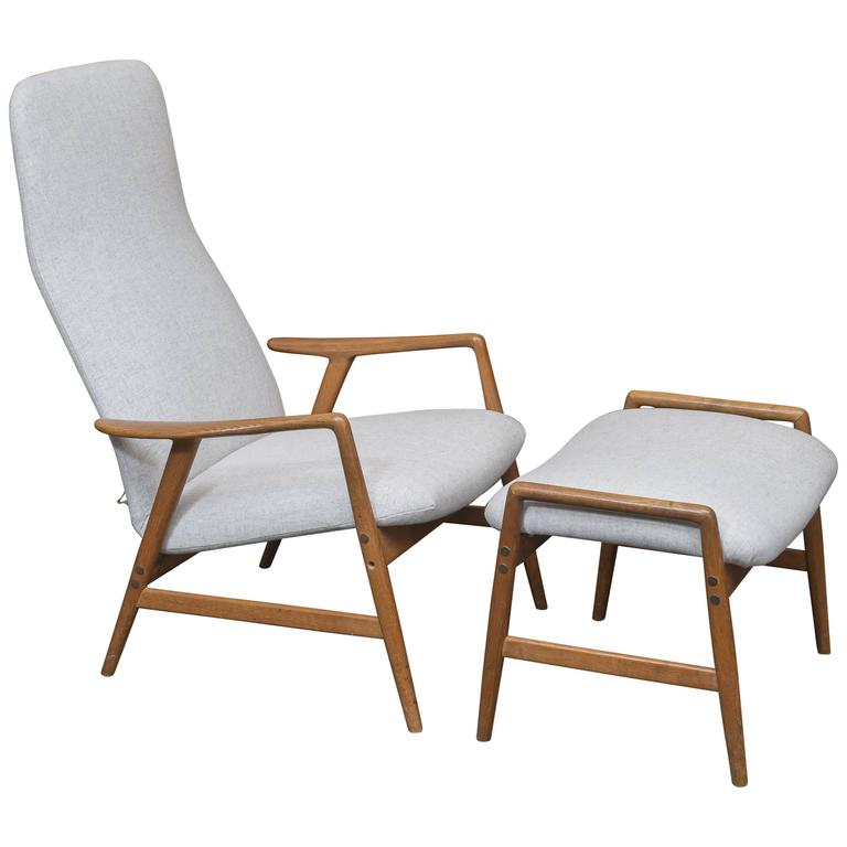 Alf Svensson DUX Lounge Chair and Ottoman 1