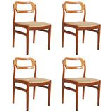 Set of Four Danish Teak Chairs by Uldum Møbelfabrik