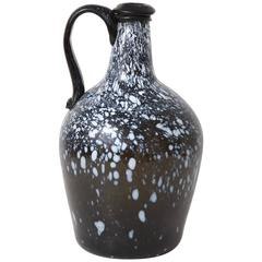 Large English Nailsea Glass Jug