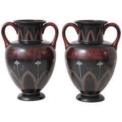Pair of 19th Century German Neoclassical Amphora Vases