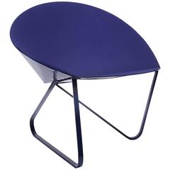 'Curved Chair' Felt Padded and Coated Steel in Customizable Color